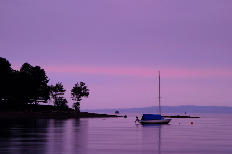 SEA013<br /> The Harbor at Dawn<br /> Belfast, Maine
