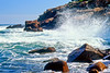 SEA41<br /> Acadia Waves<br /> Acadia NP, Maine' Waves; surf; rocky shore; Otter Point; Atlantic Ocean; rough surf;