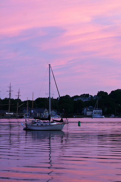 SEA020<br /> Mystic River Sunset<br /> Mystic, Connecticut