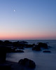 SEA45<br /> Moonset Over Hammonasset