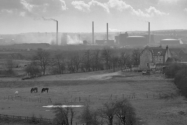 Landscape from Sheffield Parkway - Towards Orgreave Catcliffe Yorkshire UK 1970's