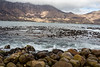 Shoreline, Hout Bay boulders and rocks, clean calm sea with kelp forests to Chapmans Peak