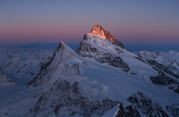 Finsteraarhorn at sunset, Switzerland