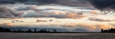 Sooke Skyline at Sunset-1