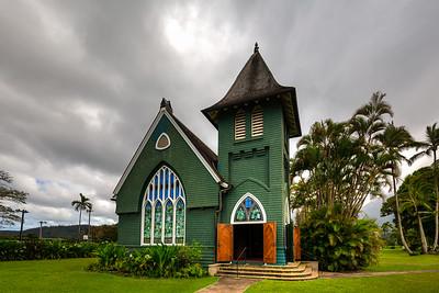 Wai`oli Hui`ia Church in Hanalei, Kauai