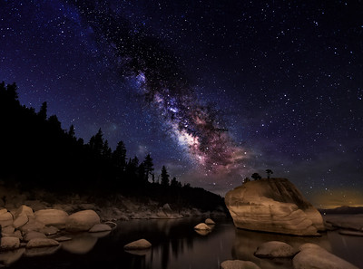 Milky Way Galaxy over Bonsai Rock