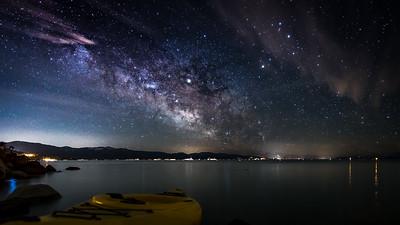 Milky Way over Lake Taheo