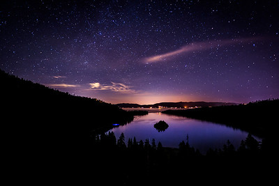 Late Night Over Emerald Bay