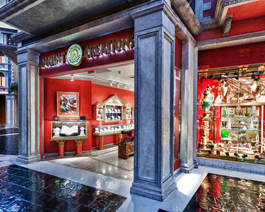 Ancient Creations is just one of the many specialty stores at the Grand Canal pavilion. Here, you can own ancient artifacts and customized jewelry pieces.