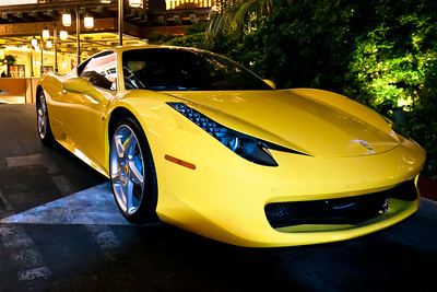 Stepping out of Treasure Island I discovered the Ferrari Italia 458.