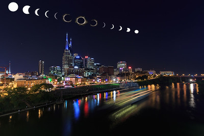 A composite of the August 21st eclipse over Nashville Tn.