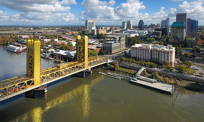 Downtown Sacramento from the Air