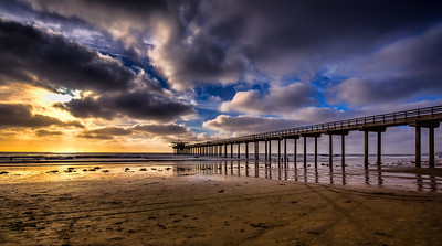 Sunset over Scripps Pier