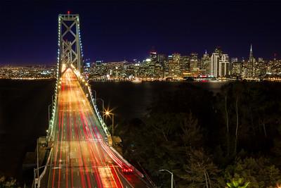 """""""Going Home"""" Bay Bridge, San Francisco"""
