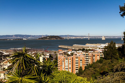 Another view of the bay. In the distance is the bay bridge and Treasure Island.