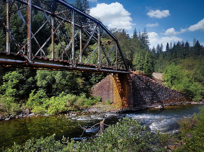 Bridge 301.85 was completed in 1901 and remains in service today for the Southern Pacific Railroad.