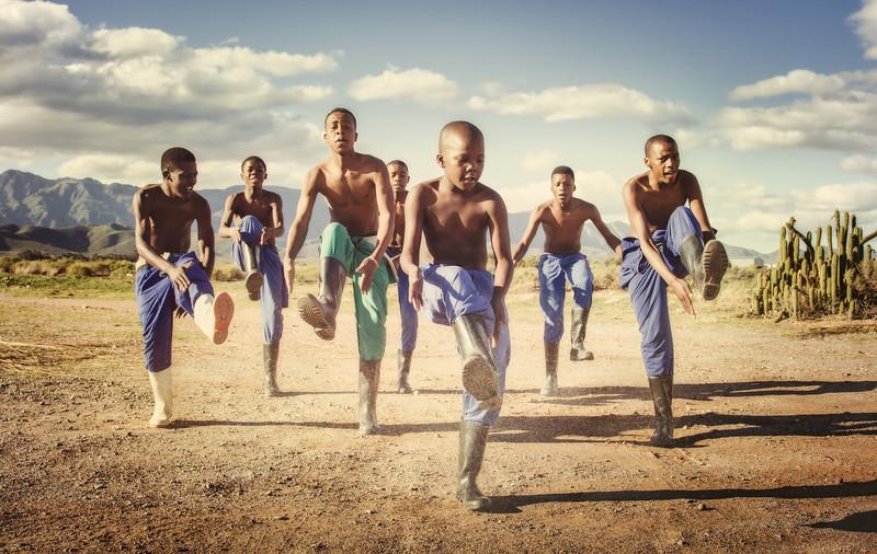 Gumboot dancers