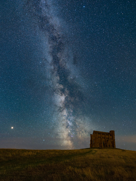 The Milky Way over St. Catherine's Chapel near Abbotsbury, Dorset, UK