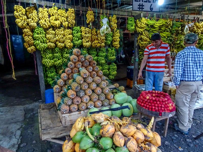 Fruit stand near Panacam Lodge, Honduras