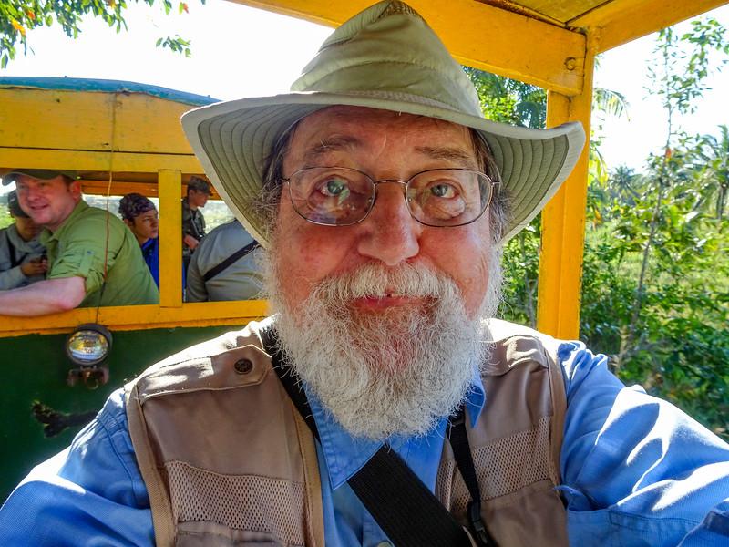 Me, on the train,  Cuero y Salado NWR, Honduras