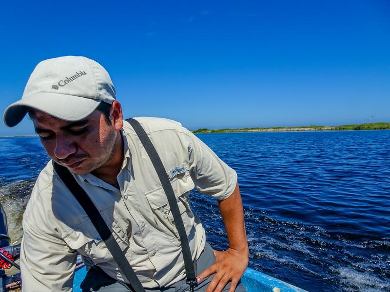 Santos, our guide.  Cuero y Salado NWR, Honduras