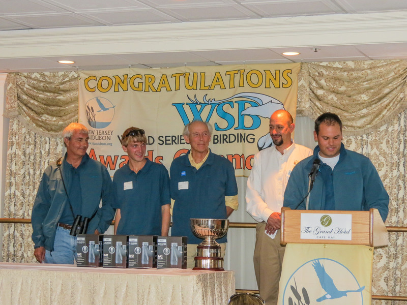 Team ZEISS, winner. World Series of Birding Awards Brunch, Cape May NJ