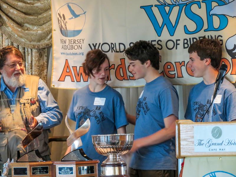 Upper Main Line YMCA, winners ZEISS/Pete Dunne Future Leaders in Birding. World Series of Birding Awards Brunch, Cape May NJ