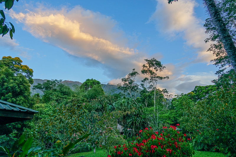 First night at the Lodge at Pico Bonito, Honduras