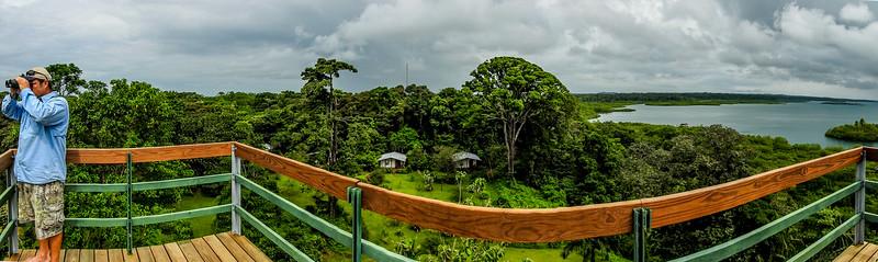 Tranquilo Bay Lodge, Panama 180 on the tower