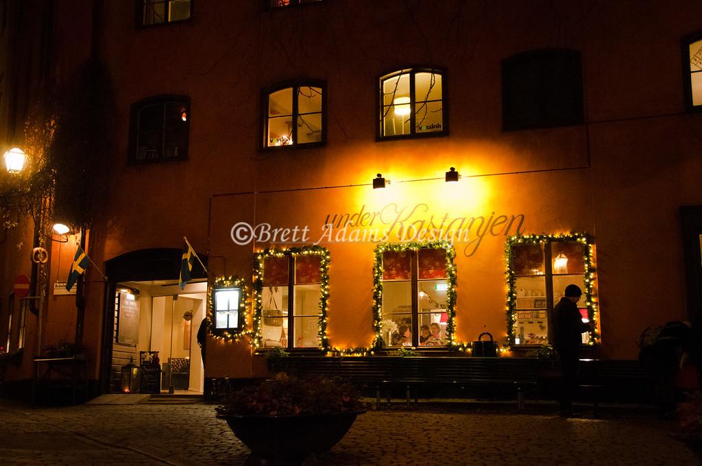 Under Kastanjen Cafe <br /> Gamla Stan (Old City) <br /> Stockholm