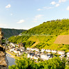 Town overlook from Reichsburg Cochem<br /> Cochem, Germany