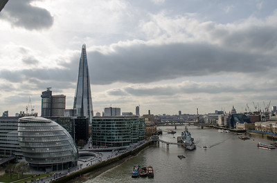 View from Tower Bridge; London, England