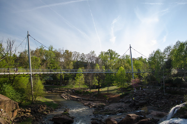 Liberty Bridge at Falls Park on the Reedy; Greenville, SC