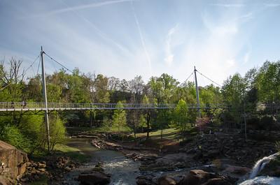 Liberty Bridge at Falls Park on the Reedy; Greenville, SC