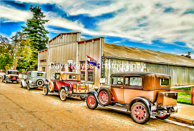 On a recent trip to Los Alamos we met a lovely group of folks with their antique cars parked in front of an antique store. edit