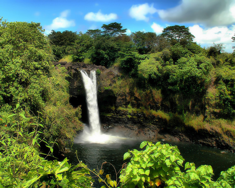 Rainbow Falls<br /> Hawaii