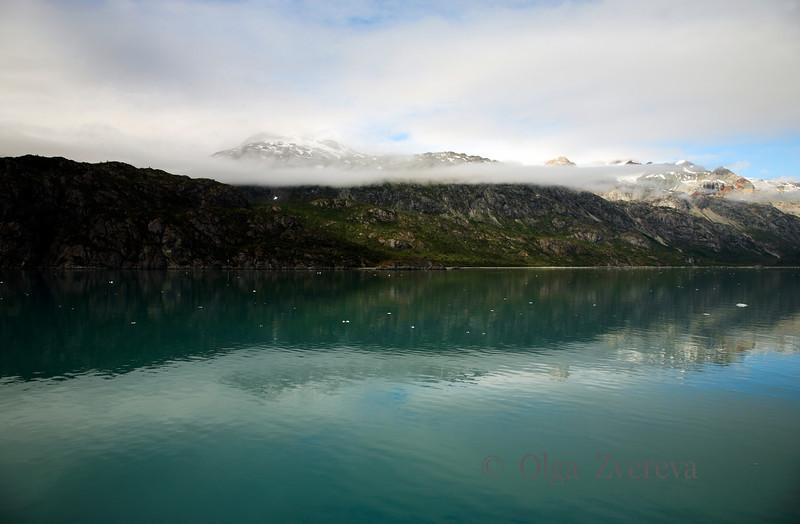 <p>Morning fog, Glacier Bay National Park, Alaska, USA</p>