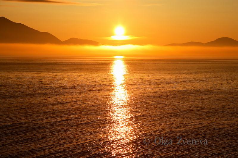 <p>Sunrise over Pacific, Alaska, USA</p>