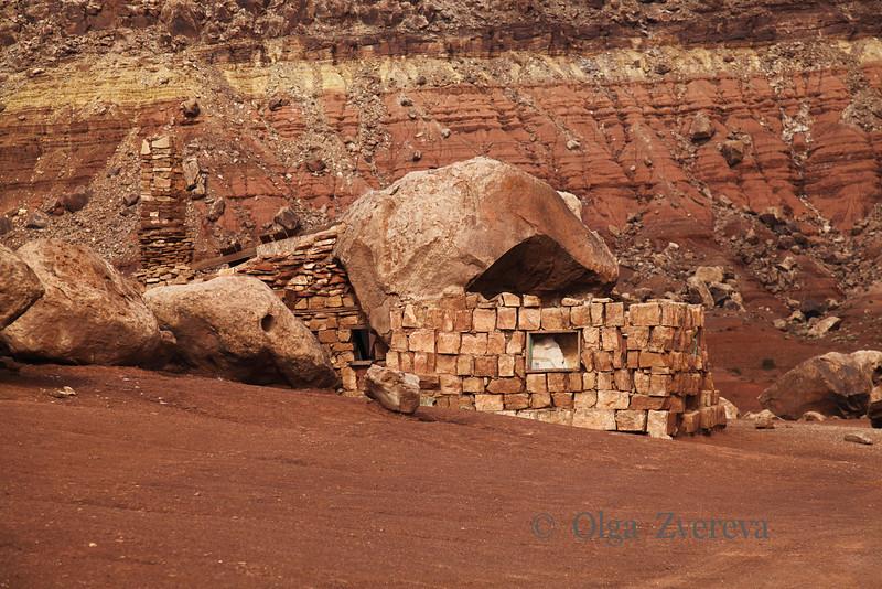 <p>Rock house near the Vermillion Cliffs on 89A  Arizona, USA</p>