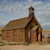 <p>Methodist church at Bodie State Historic Park, California, USA</p> <p>Bodie is a ghost town from the late 1800's. It began as a mining camp for discovery of gold.</p>