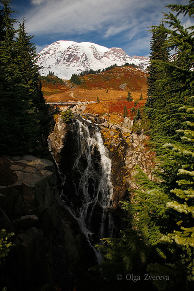 <p>Autumn at Paradise area. Mirtle Falls is one from the many of beautiful waterfalls in this area.</p> <p>Mount Rainier National Park, Washington, USA</p>