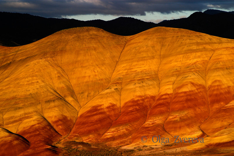 <p>Painted Hills in sunset light. John Day Fossil Beds National Monument, Oregon, USA</p>