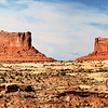 <p>The Monitor and Merrimac Buttes are monoliths in Island in the Sky, Canyonlands National Park, Utah, USA.</p>