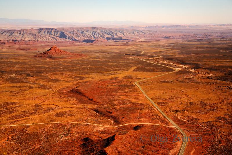<p>Soaring over Desert.View from Cedar Mesa, Utah, USA</p>