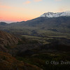 <p>Sunset light colored a sky over Mount St Helens area. Mount St Helens National Volcanic Monument, Washington, USA</p> <p>Mount St Helens erupted in May 18, 1980</p>