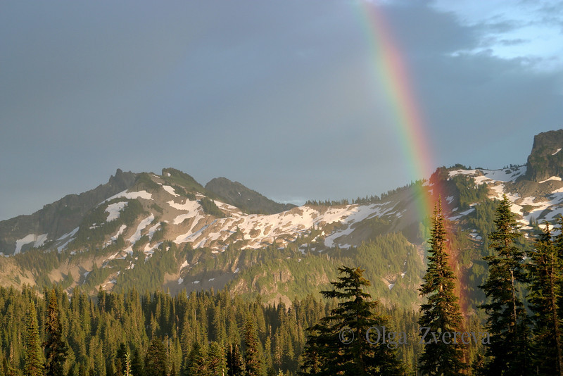 <p>Rainbow, Mount Rainier National Park, Washington, USA</p>
