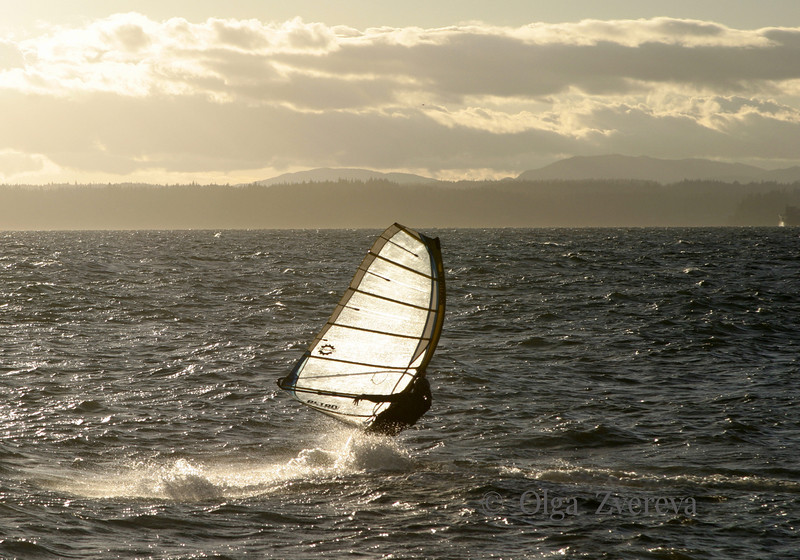 <p>Windsurfing, Puget Sound, Seattle, Washington, USA</p>