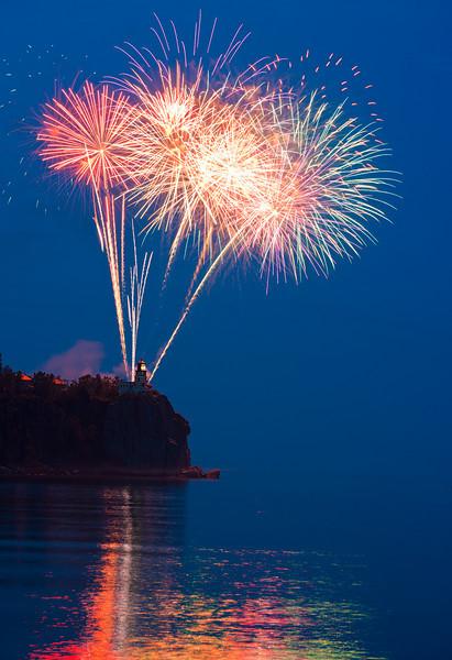 Split Rock Light Fireworks, Two Harbors, Minnesota