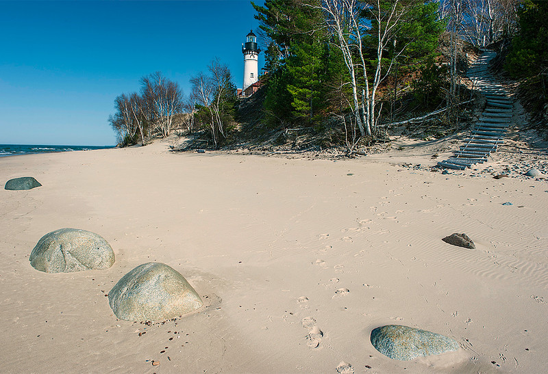 Sable Point Lighthouse, Michigan U.P.; Pictured Rocks National Lakeshore