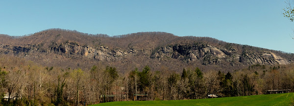 Eastern face of Hickory Nut Gorge